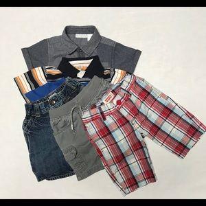 Lot Of 3 Size 24M Shirts & 3 Size 2T Shorts
